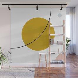 SPACCE 01// Geometric Pastel Minimalist Illustration Wall Mural