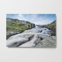 Waterfall on the East Dart River Metal Print