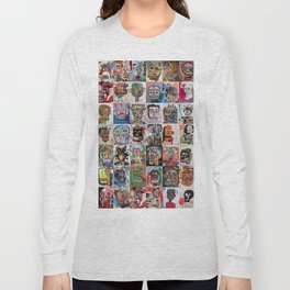 Basquiat Faces Montage Long Sleeve T-shirt