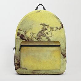 A Golden Winter Backpack