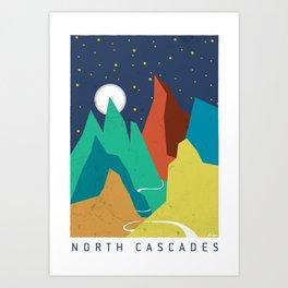 North Cascades Moonrise Art Print