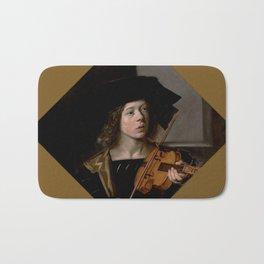"""Frans Hals """"The violinist"""" Bath Mat"""
