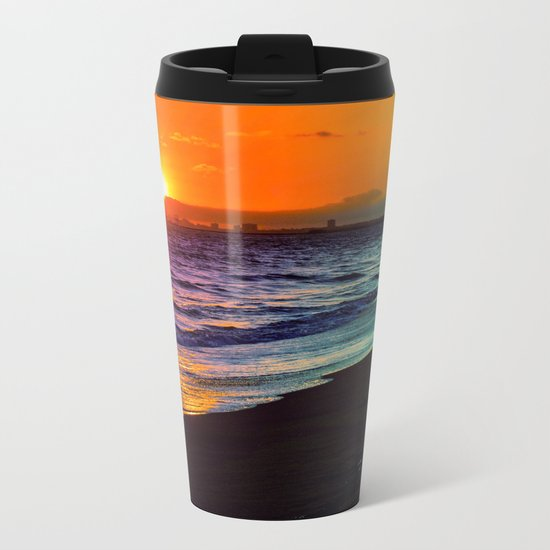 Rainbow Sunset Metal Travel Mug