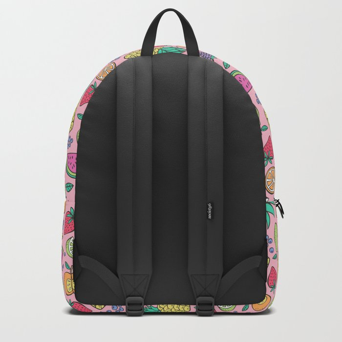fruit on pink Backpack