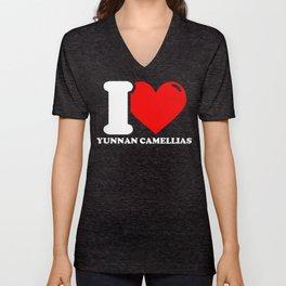 Yunnan camellia Lover Gifts - I love Yunnan camellias Unisex V-Neck