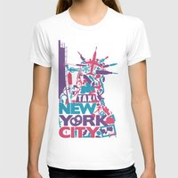 nyc T-shirts featuring NYC by ahutchabove