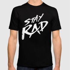 Stay Rad Mens Fitted Tee Black SMALL