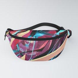 Fractal Art - Purple Spiderwebs Fanny Pack