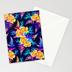 Coral Carnation - Yellow/Blue Stationery Cards