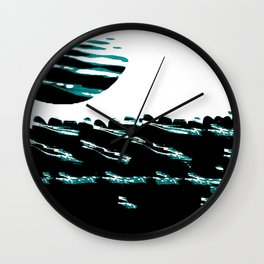 Teal Tide Wall Clock