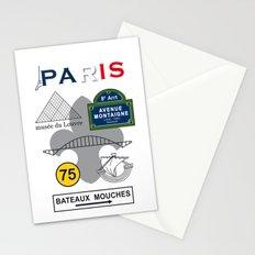 Paris, France, Vintage Art Print Poster Decoration Stationery Cards
