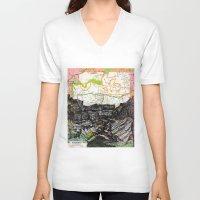 arizona V-neck T-shirts featuring Arizona by Ursula Rodgers