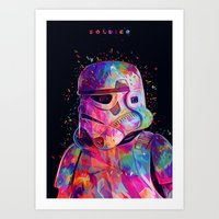 soldier Art Prints featuring Soldier by Alessandro Pautasso
