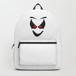 White Halloween Ghost Face Backpack
