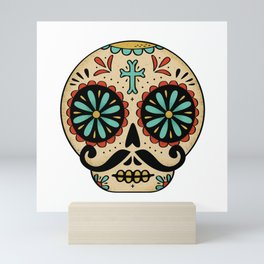 Santa Fe Sugar Skull Mini Art Print