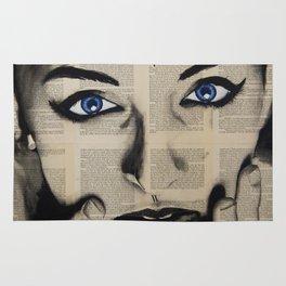 Blue Eyes Girl Rug