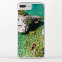 Kayaking In The Bruce Peninsula Clear iPhone Case