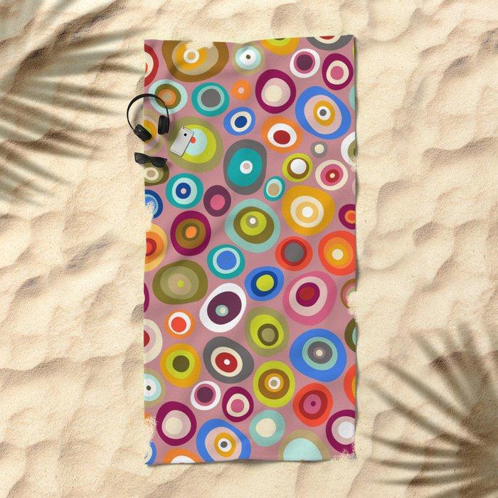 freckle spot blush Beach Towel