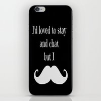 moustache iPhone & iPod Skins featuring Moustache  by  Alexia Miles photography