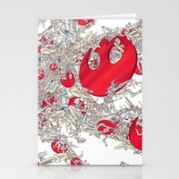 foo fighters Stationery Cards featuring Rebel Fighters by Guy Warley