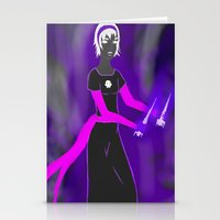 homestuck Stationery Cards featuring Grimdark Rose by Paula Urruti
