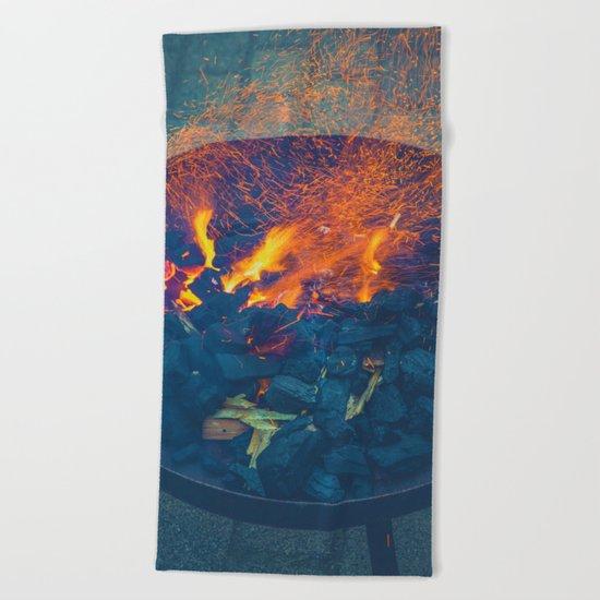 Light My Fire Beach Towel