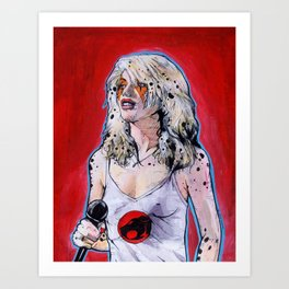 Debbie Harry Cheetara - Rip Her to Shreds Art Print