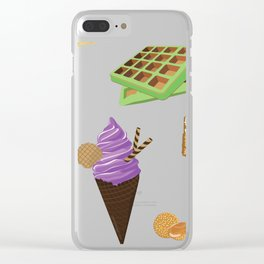 Dessert Collage Clear iPhone Case