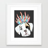 puppy Framed Art Prints featuring Puppy by 13 Styx