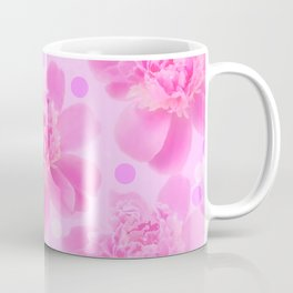 Cute and girly - pink flowers and dots - pink tones - #society6 #buyart Coffee Mug