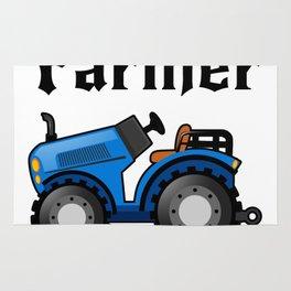 Farmer Tractor For Men Women Farmer Gifts Rug