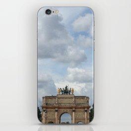 Arc du Carrousel Under the Sky iPhone Skin