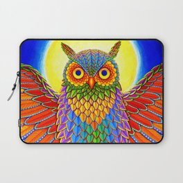Colorful Rainbow Owl Laptop Sleeve