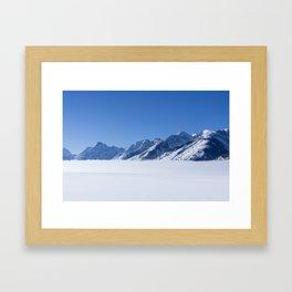 Teton Fog Framed Art Print