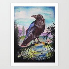 Crow Cairn Art Print