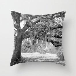 New Orleans Oak Tree Throw Pillow