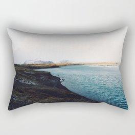 From the other side, Jökulsárlón, Iceland Art Print Rectangular Pillow