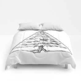 Tree in Triangle Comforters