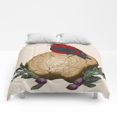 Bird on a Log Comforters