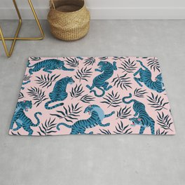 Blue asian tigers Rug