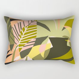 A Flower Blooms Best in a Happy Pot #painting #illustration Rectangular Pillow