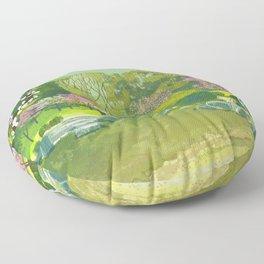 Ume Blossoms Floor Pillow