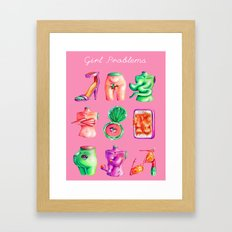 Girl Problems Framed Art Print