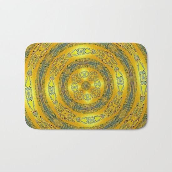 Yellow/Blue Manadala Bath Mat