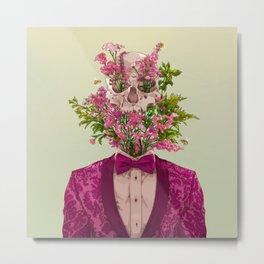 SKULL BLOSSOM (GREEN) Metal Print