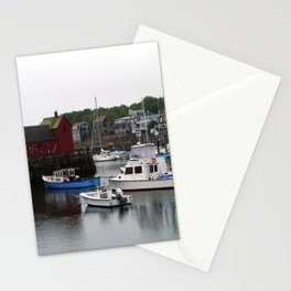Rockport Inner Harbor With Lobster Fleet And Motif No.1 Stationery Cards