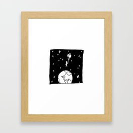 Down to Earth. Framed Art Print