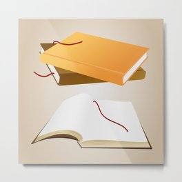 Books with background Metal Print