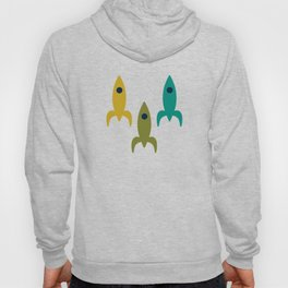 Little Rockets - Atomic Age Mid-Century Modern Pattern in Mid Mod Multicolour  Hoody