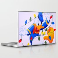 donald duck Laptop & iPad Skins featuring Donald Duck Holidays by Brian David